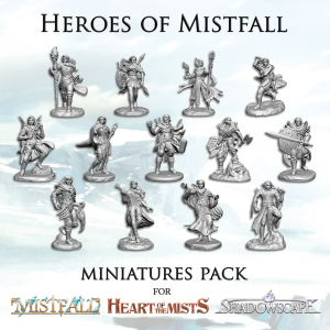 Heroes of Mistfall : Miniatures pack