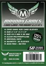 MDG7077 Mayday 63.5mm x 88mm - Premium US Card Sleeves