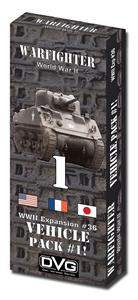 Warfighter WWII Expansion 36: Vehicle Pack #1